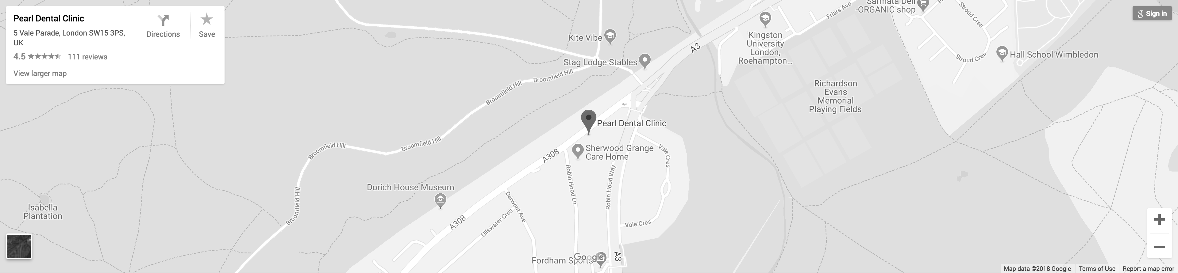 Google Map - Pearl Dental Clinic