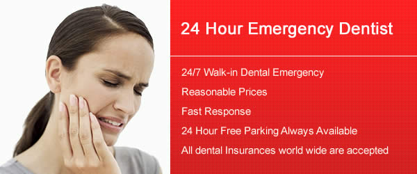 24 Hours, 7 Days a week Emergency Dentist