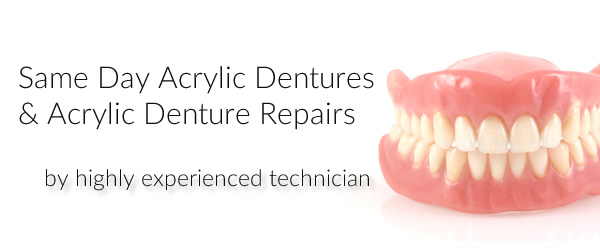 Same day acrylic denture repair
