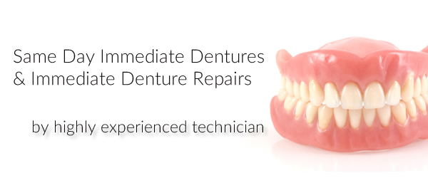 Same day immediate denture and immediate denture repair